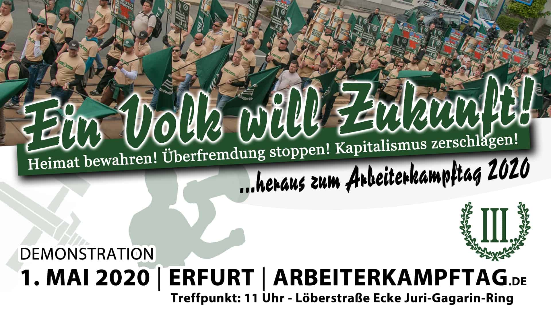 1. Mai Demonstration Erfurt 2020